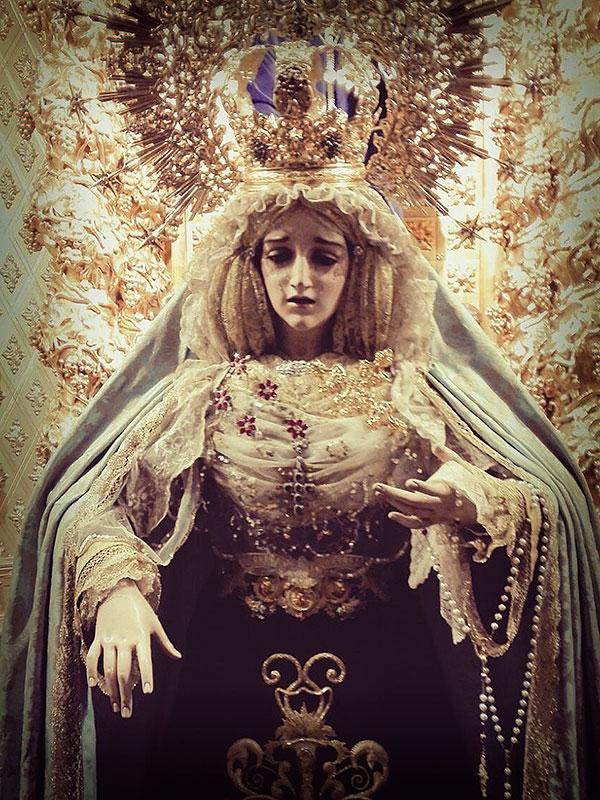 María Stma. del Mayor Dolor de Linares durante la celebración de la Inmaculada Concepción