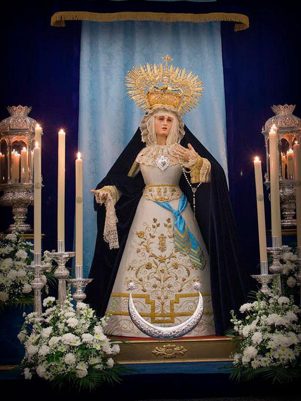 María Stma. de la Salud en su Soledad durante la celebración de la Inmaculada Concepción
